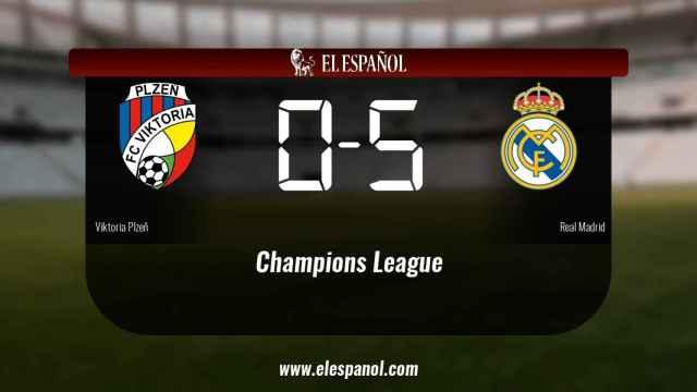El Real Madrid doblegó al Viktoria Plzeň por 0-5
