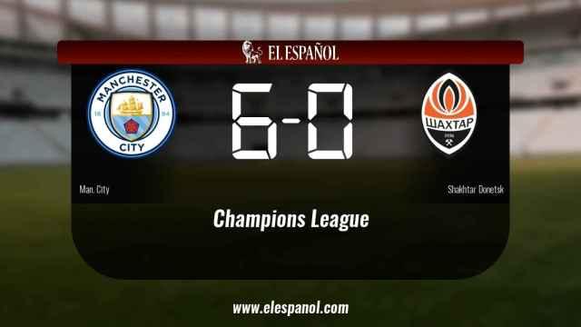 Los tres puntos se quedaron en casa: Manchester City 6-0 Shakhtar Donetsk