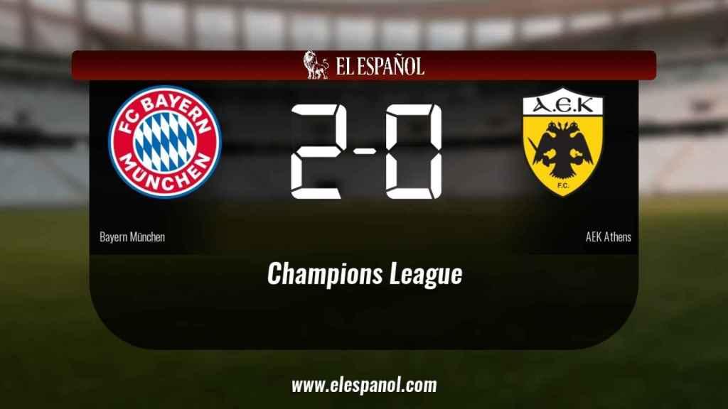Triunfo del Bayern de Munich por 2-0 frente al AEK de Atenas