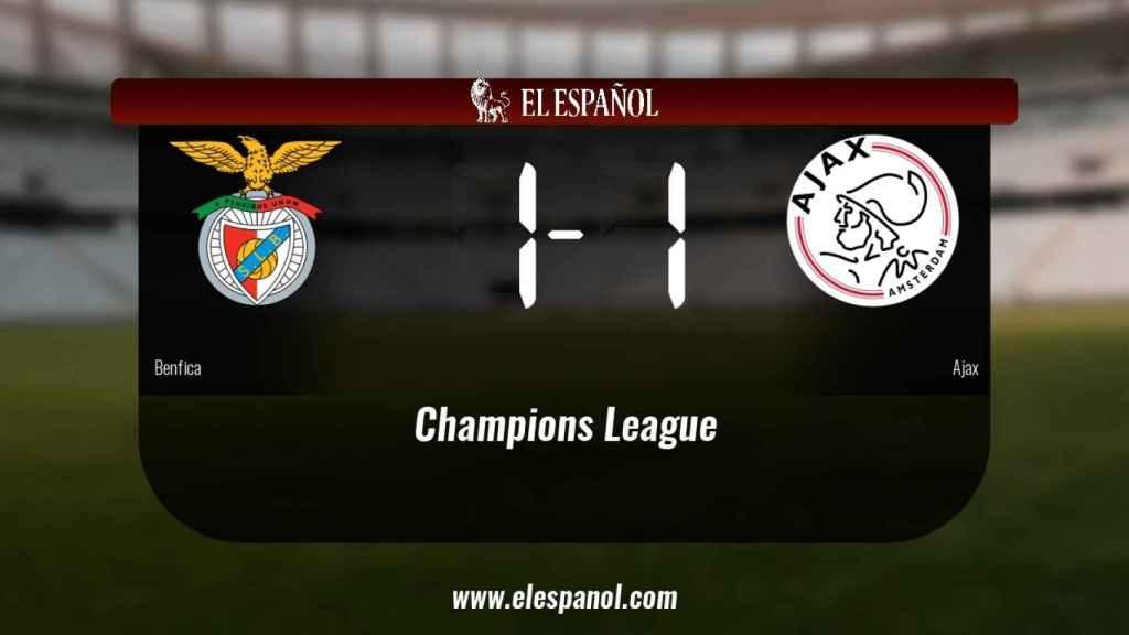 El Benfica y el Ajax empatan (1-1)
