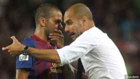 Alves y Guardiola, en su etapa en el FC Barcelona.