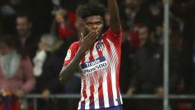 Thomas Partey, del Atlético de Madrid, durante el partido ante el Athletic