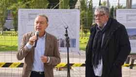 Los alcaldes del PSC Antonio Balmón y Antoni Poveda.