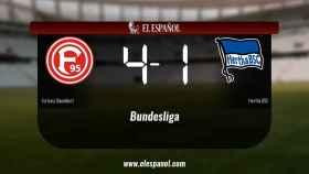 El Fortuna Düsseldorf se queda los tres puntos frente al Hertha BSC