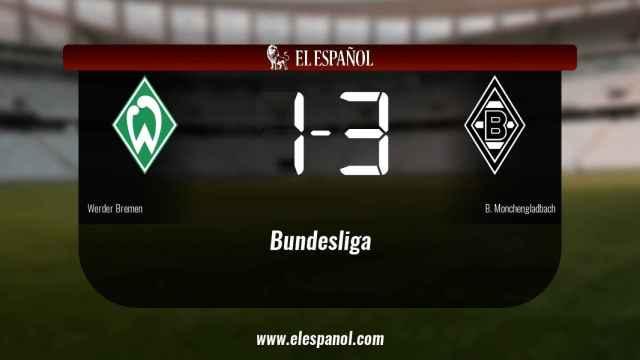 El Werder Bremen cae derrotado ante el Borussia Monchengladbach por 1-3