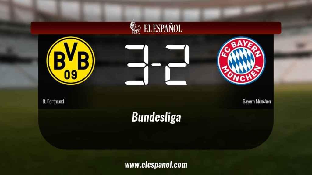 Victoria 3-2 del Borussia Dortmund frente al Bayern München
