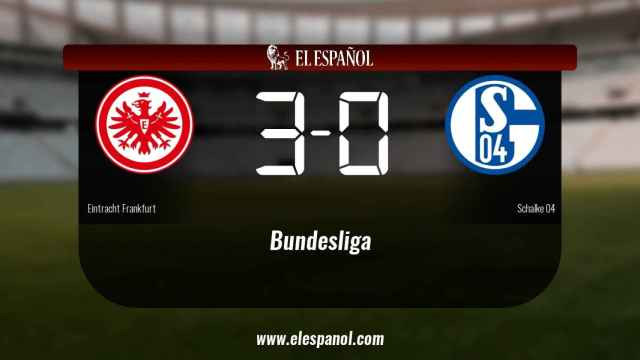 Triunfo del Eintracht Frankfurt por 3-0 frente al Schalke 04