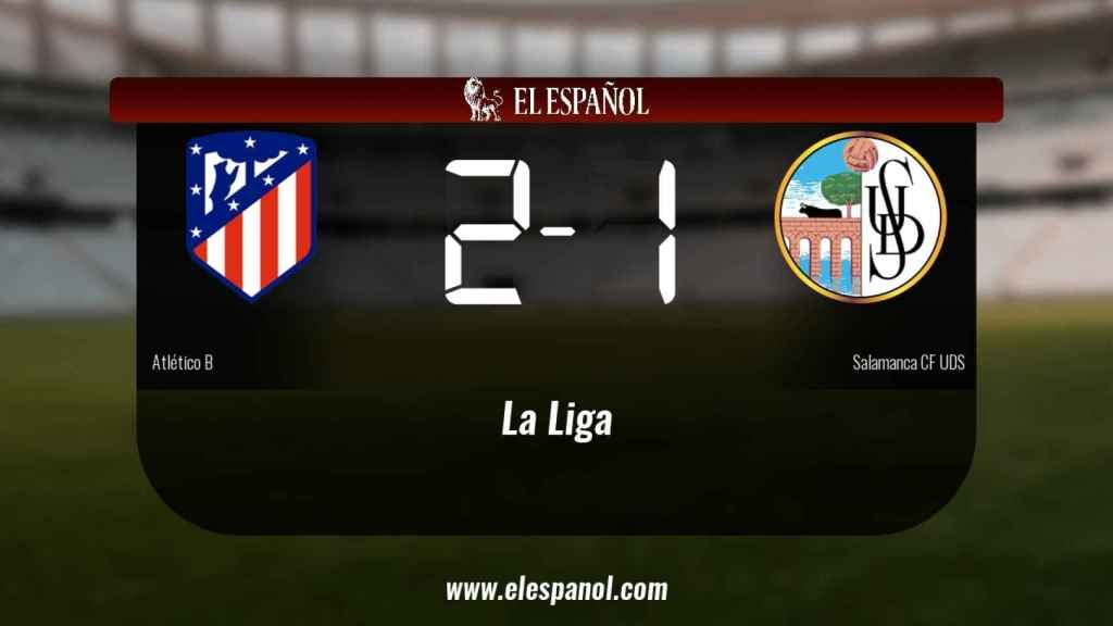 El Atlético B gana en el Cerro del Espino al Salamanca UDS