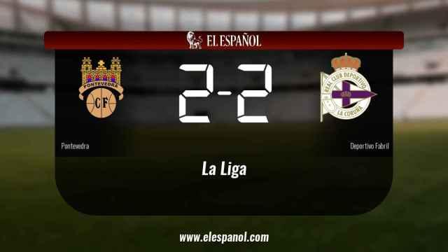 Empate a dos entre el Pontevedra y el Deportivo Fabril