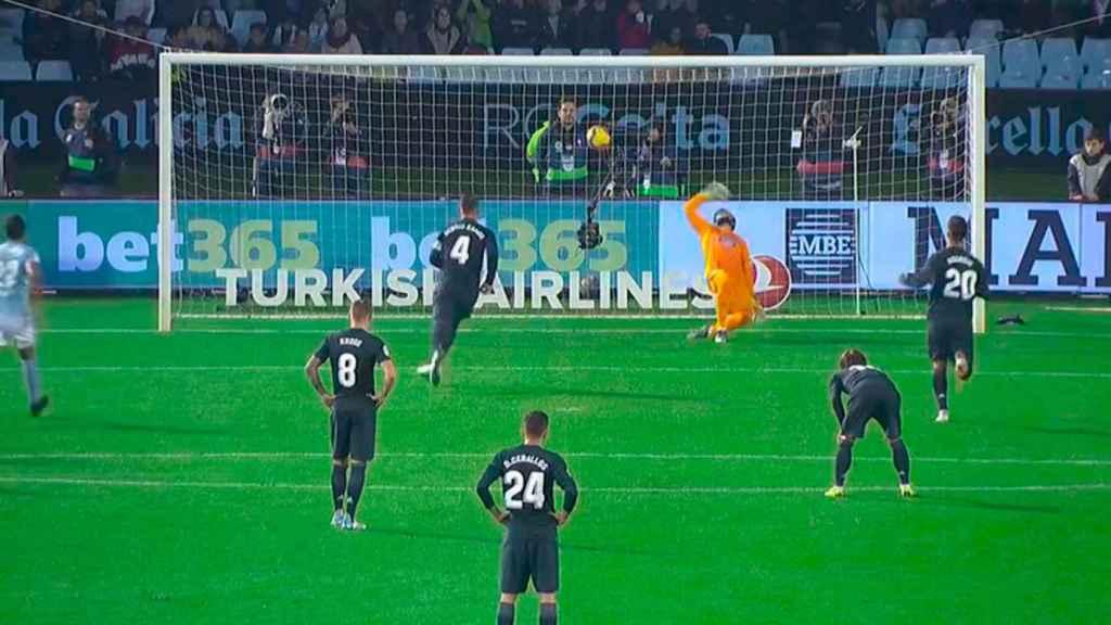 Sergio Ramos marca a lo Panenka un penalti ante el Celta de Vigo