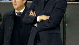 El técnico argentino del Real Madrid, Santiago Solari, durante el encuentro