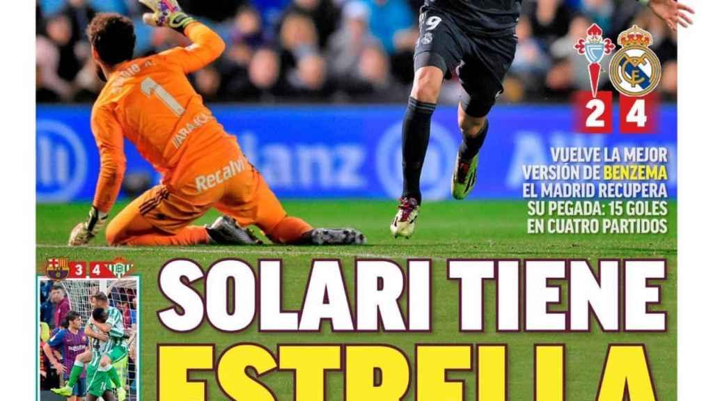 Portada MARCA (12/11/2018)