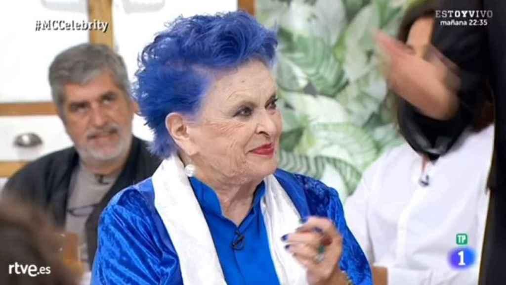 Lucía Bosé durante el programa 'MasterChef Celebrity'.