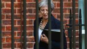 Theresa May en Downing Street.