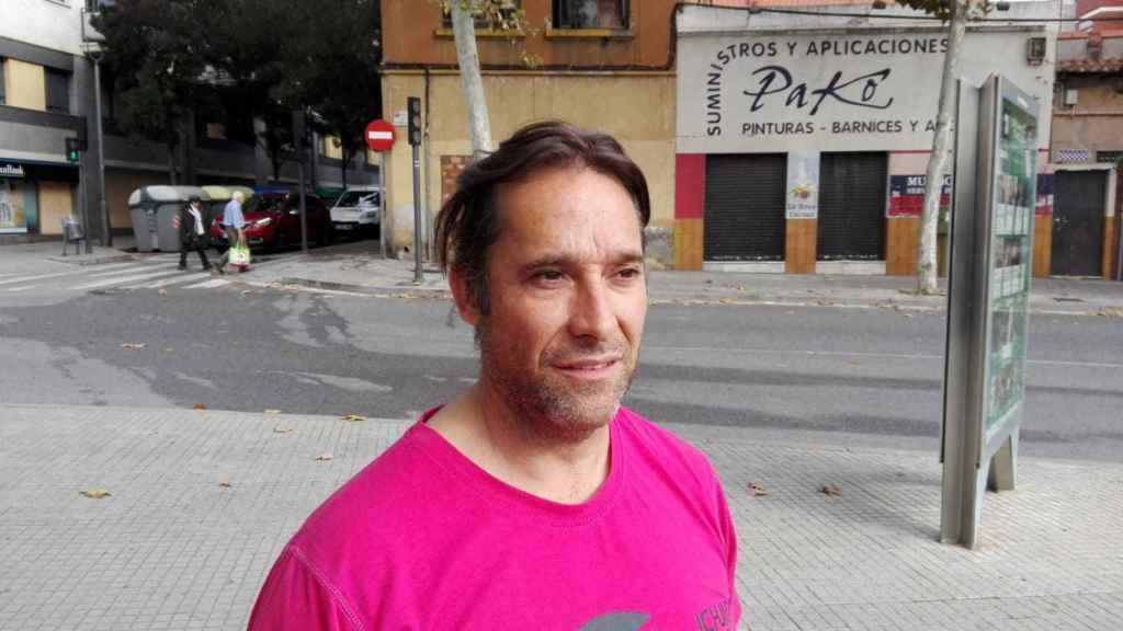 Germán, el conductor de la ambulancia que atendió al agredido.