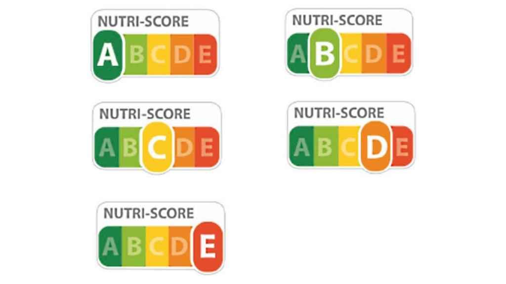 El Nutriscore tiene cinco niveles.