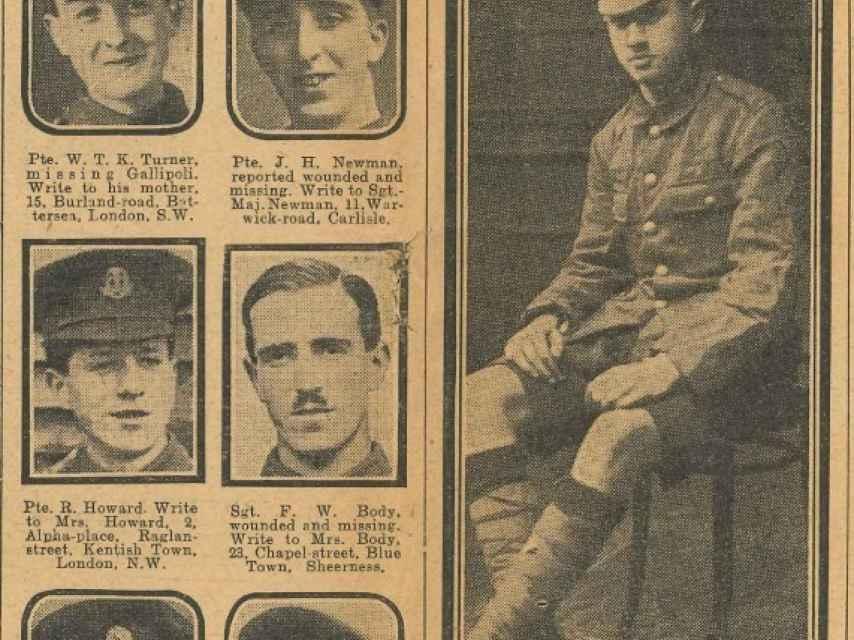 Sidney Lewis, con 12 años, fue el soldado más joven de la I Guerra Mundial.