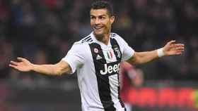 Cristiano, en el partido ante el Milan.