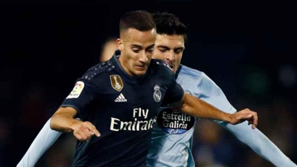 Lucas Vazquez, en el Celta de Vigo - Real Madrid de La Liga en Balaídos