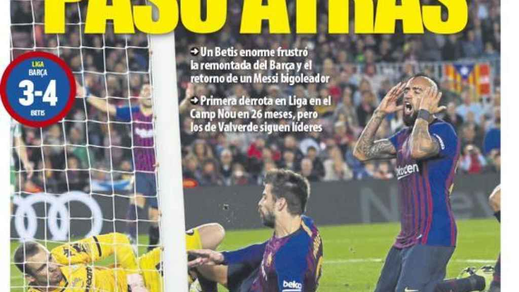 Portada Mundo Deportivo (12/11/18)