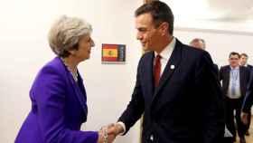 Pedro Sánnchez se reúne con Theresa May