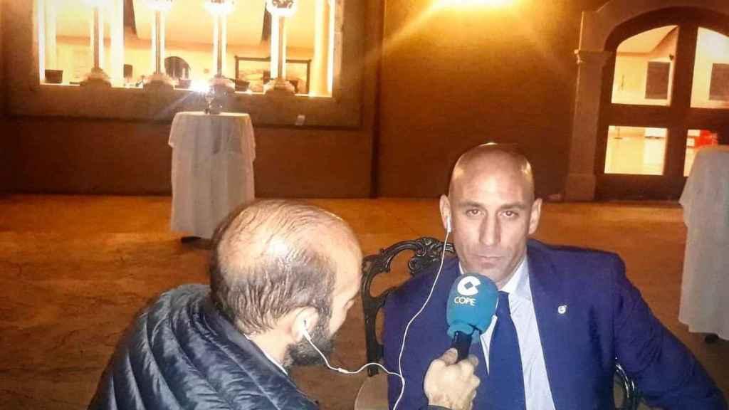 Luis Rubiales, presidente Federación Española de Fútbol. Foto: Twitter (@partidazocope)