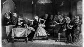 Representación de los juicios de Salem.