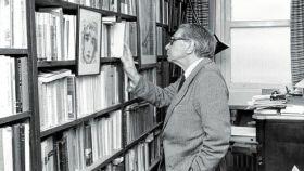 Gonzalo Torrente Ballester, en la biblioteca de su casa en Salamanca en 1996.