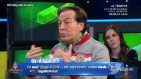 Pipi Estrada en El Chiringuito. Foto: Twitter. (@elchiringuitotv)