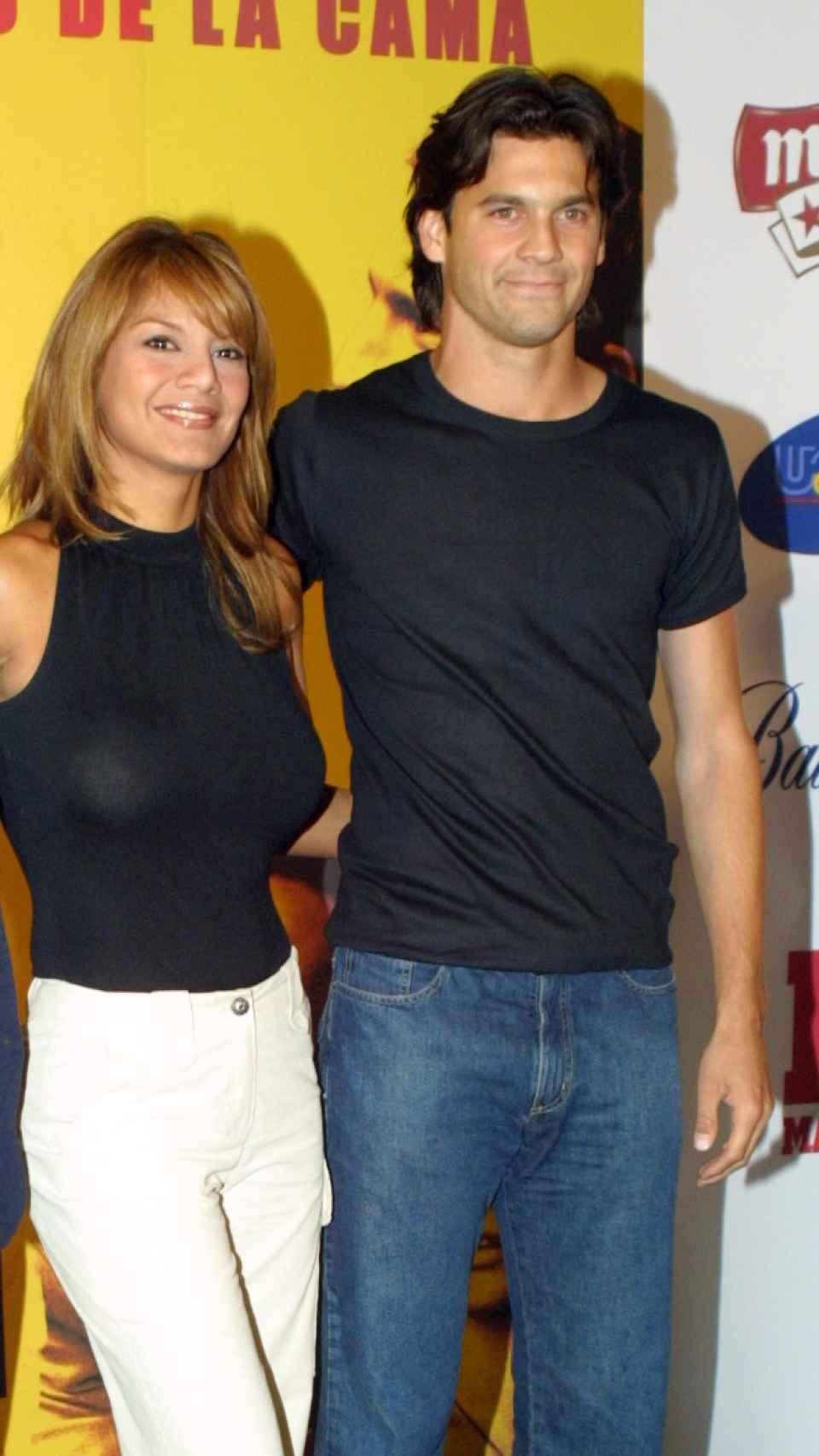 Santiago Solari con Ivonne Reyes en el año 2003.