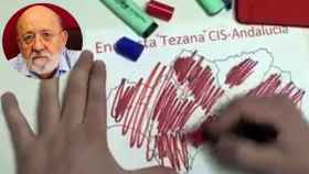 José Félix Tezanos y una captura del vídeo difundido por el PP este miércoles.