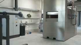 Un horno crematorio.