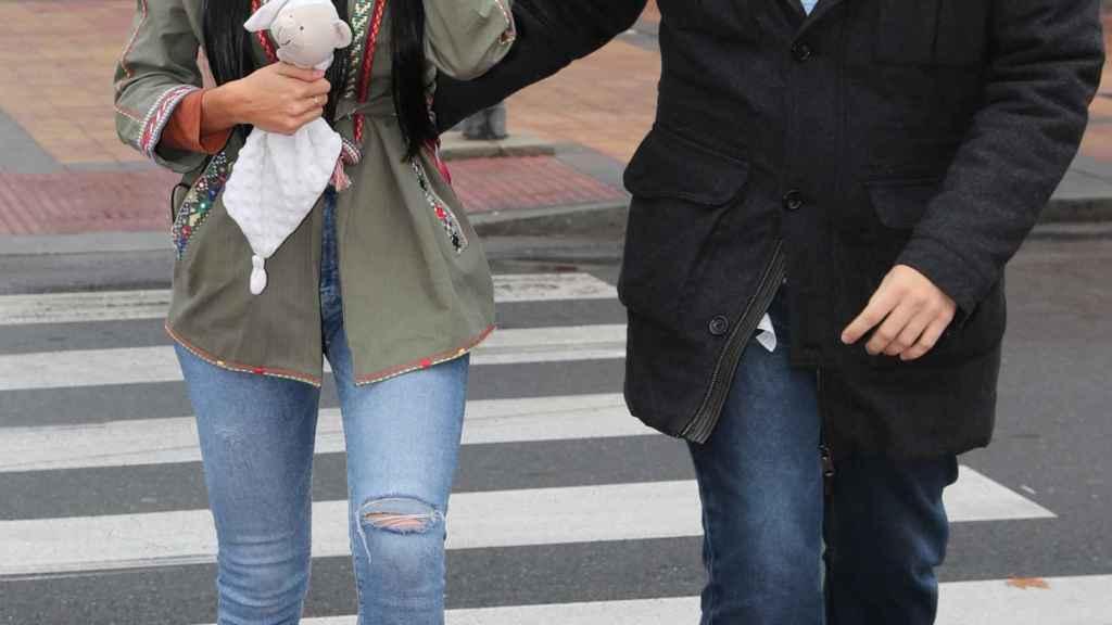 Aurah Ruiz, a la salida de uno de sus juicios.