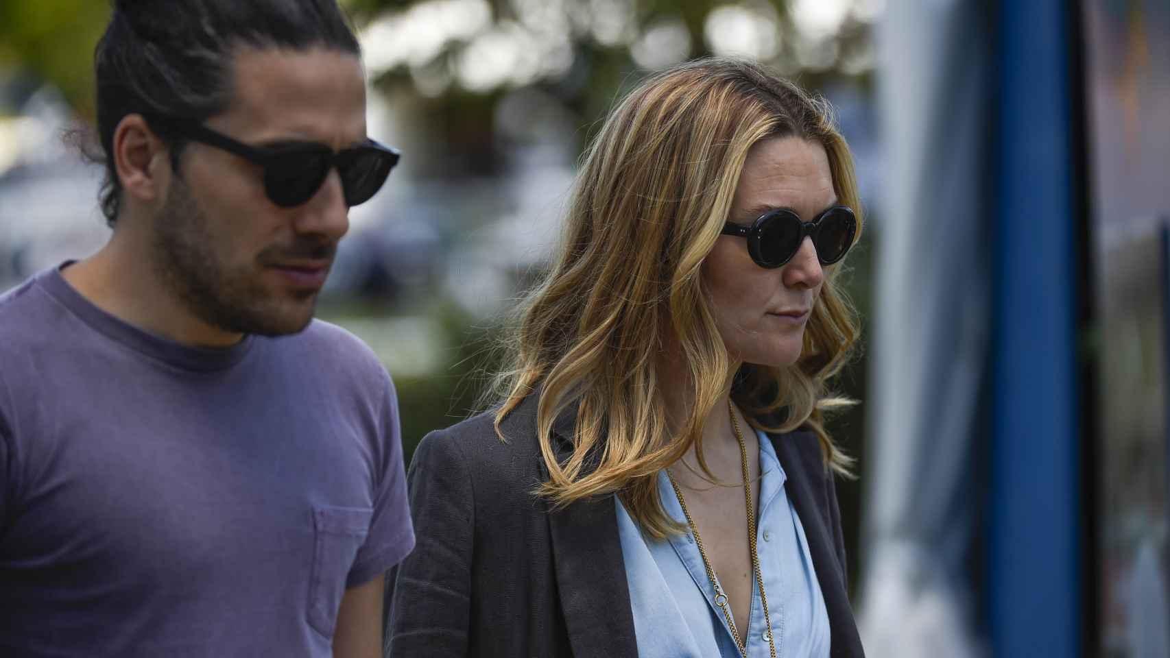 Marta Ortega y Carlos Torretta en la hípica.