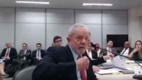 Lula durante su declaración.