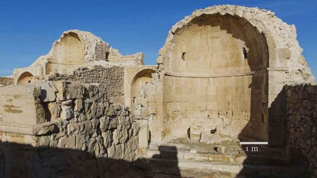 La iglesia bizantina abandonada en la que se ha descubierto la pintura.