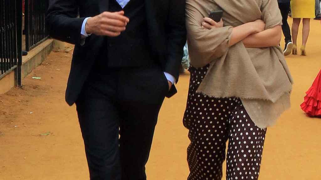 Carlos Torretta y Marta Ortega riéndose en una imagen de archivo.