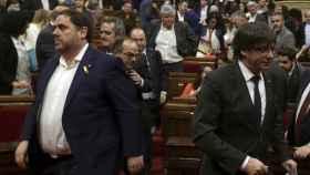 Oriol Junqueras y Carles Puigdemont en una imagen de archivo.