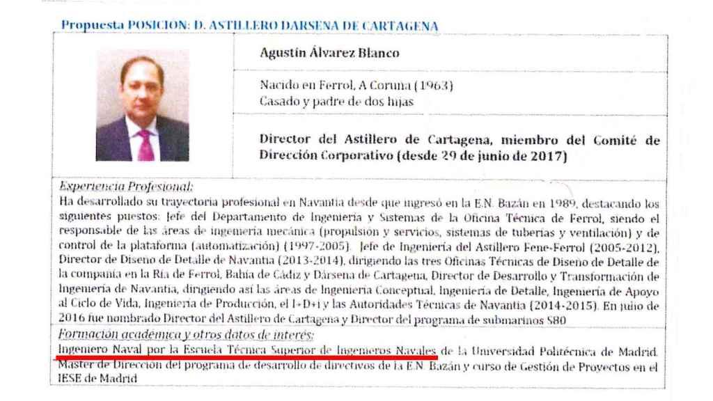 El CV inflado de Agustín Álvarez Blanco