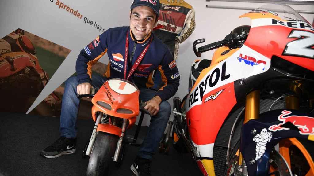 Dani Pedrosa, sobre la primera moto que tuvo siendo un niño.