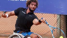 Daniel Caverzaschi, durante un torneo. Twitter: (@DaniCaver)