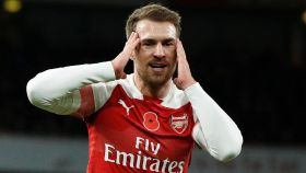 Ramsey, en un partido con el Arsenal