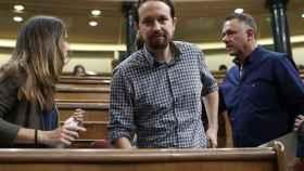 Pablo Iglesias durante un Pleno en el Congreso.