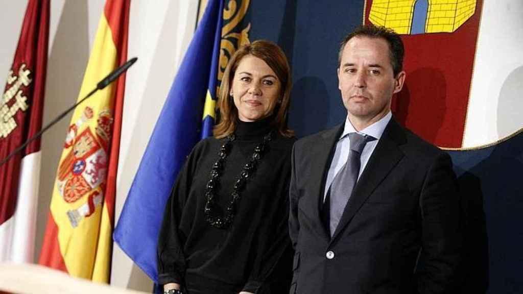 Cospedal y el que fuera su jefe de seguridad, Andrés Gómez Gordo.
