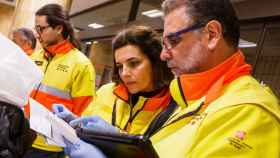 Profesionales del Sistema de Emergencias Médicas (SEM) de Cataluña.