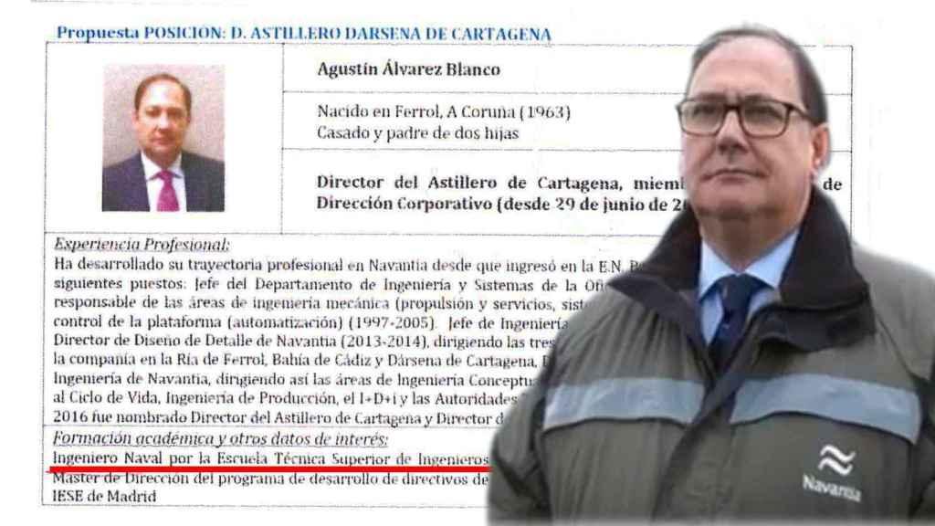 El director de Navantia falseó durante 30 años que era Ingeniero, tal y como consta en su CV ya modificado