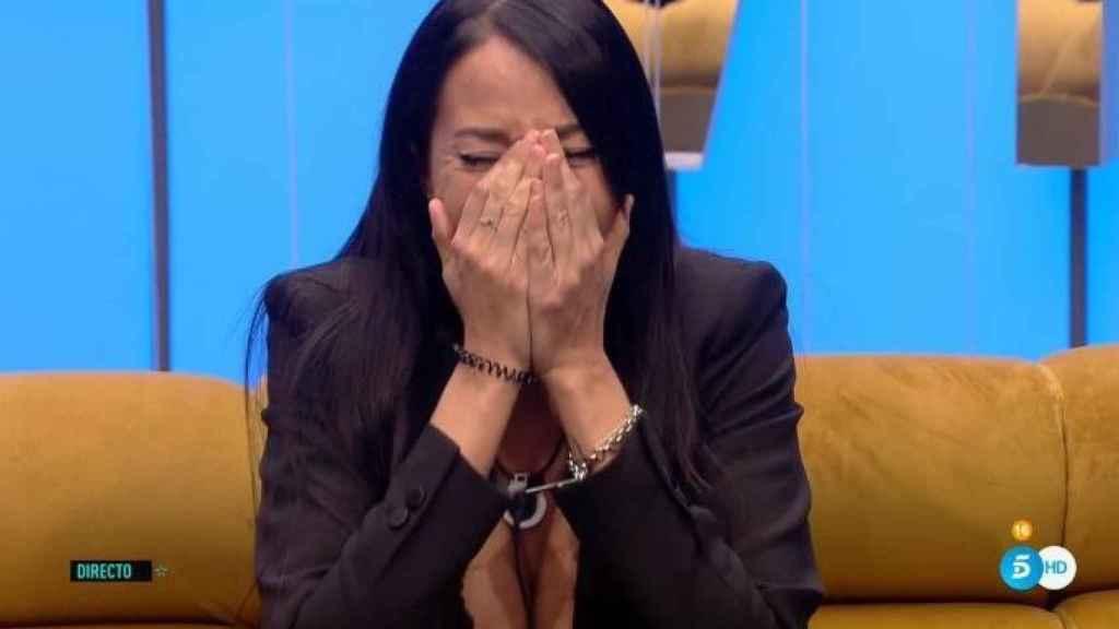 Aurah llorando a mares en 'GH VIP'.