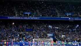 La grada del Carlos Tartiere durante un Oviedo - Sporting. Foto: realoviedo.es