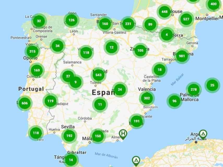 Puntos de Carga en España a día de hoy