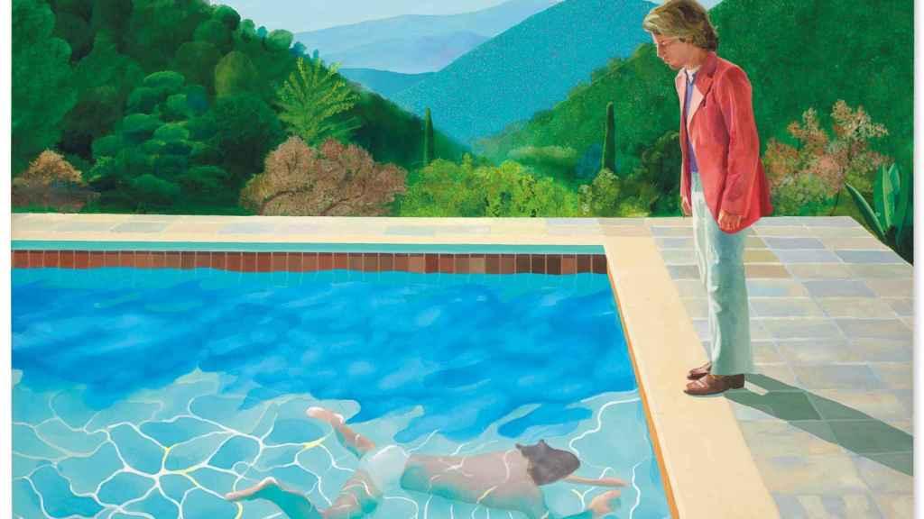 Cuadro del pintor británico David Hockney, 'Portrait of an Artist (Pool With Two Figures)', subastado por más de 90 millones de dólares.